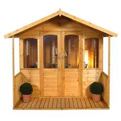 8x8 Maple Summerhouse - Assembled