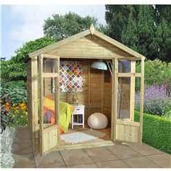 7x5 Aurora Summerhouse - Assembled