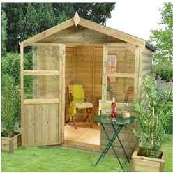 6ft x 6ft Cedar Summerhouse - Assembled
