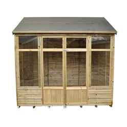 8ft x 6ft Honeysuckle Summerhouse - Assembled