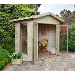 8ft x 8ft Orchid Corner Summerhouse - Assembled