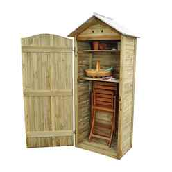 3ft x 2ft (93cm x 58cm) Pressure Treated Tongue and Groove Tall Wooden Storage Unit