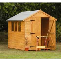 8ft x 6ft Robust Shiplap Apex Shed
