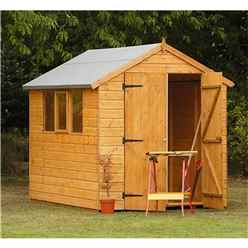 8ft x 6ft Robust Shiplap Apex Shed - Assembled