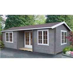 4.19m x 7.89m Spacious Log Cabin - 44mm Wall Thickness