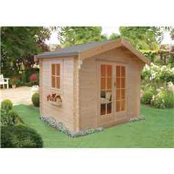 2.99m x 2.39m High Spec Log Cabin - 70mm Wall Thickness