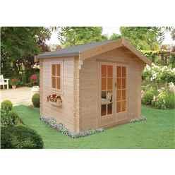 2.99m x 2.99m High Spec Log Cabin - 28mm Wall Thickness