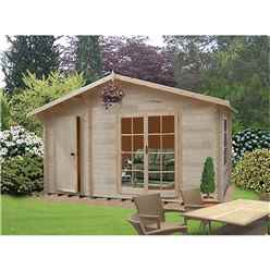 4.19m x 3.59m All Purpose Log Cabin - 70mm Wall Thickness