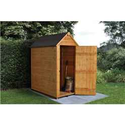 INSTALLED 5ft x 3ft (1.6m x 1m) Windowless Overlap Apex Shed With Single Door