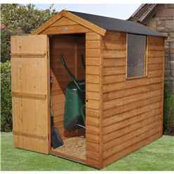 6ft x 4ft Overlap Apex Shed With 1 Window - Installed