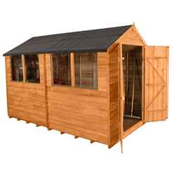 10ft x 6ft Overlap Apex Shed With 4 Windows - Installed