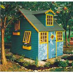8ft x 6ft (2.39m x 1.79m) - Cottage Playhouse - 12mm Tongue and Groove