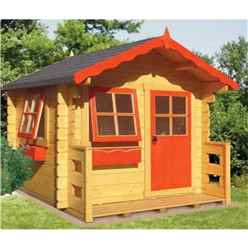 6ft x 7ft Salcey Playhouse (28mm Logs to Walls)