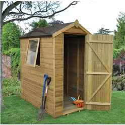 6ft x 4ft Pressure Treated Tongue and Groove Apex Wooden Shed