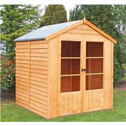 6ft x 6ft (1.76m x 1.83m) - Value Overlap Summerhouse - Double Doors - 11mm OSB Floor & Roof