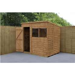 INSTALLED 7ft x 5ft Dip Treated Overlap Pent Shed (2.1m x 1.5m) - INCLUDES INSTALLATION