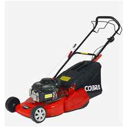 Cobra RM46SPH Honda GCV140 Petrol Powered 46cm Rear Roller Self Propelled Lawnmower - Free Oil and Free Next Day Delivery*