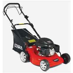 Cobra MX46B Petrol Powered 4-in-1 lawnmower powered by B&S 500E Series Engine - Free Oil and Free Next Day Delivery*