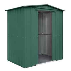 6ft x 5ft Heritage Green Apex Metal Shed (1.71m x 1.44m)