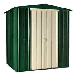 6ft x 6ft Heritage Green Apex Metal Shed (1.71m x 1.75m)
