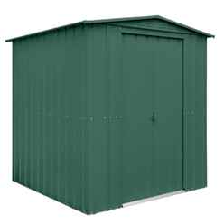 6ft x 8ft Heritage Green Apex Metal Shed (1.71m x 2.37m)