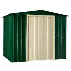 8ft x 8ft Heritage Green Apex Metal Shed (2.34m x 2.37m)