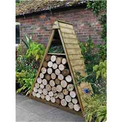 4.8ft x 2.1ft (149cm x 65cm) Pressure Treated Triangular Log Store