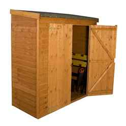 "INSTALLED 6' x 2' 7""  Overlap Pent Storage Windowless Shed With Double Doors(10mm Solid OSB Floor) - INCLUDES INSTALLATION"