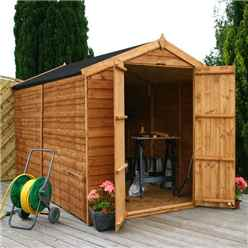 INSTALLED 10ft x 6ft (3.01m x 1.90m) Windowless Super Saver Overlap Apex Shed With Double Doors (10mm Solid OSB Floor) - INCLUDES INSTALLATION