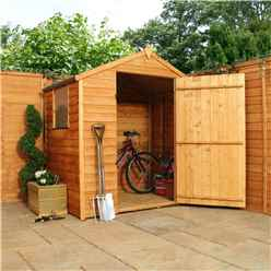 INSTALLED 3ft x 6ft Super Saver Overlap Apex Shed With Single Door + 1 Window (10mm Solid OSB Floor) - INCLUDES INSTALLATION