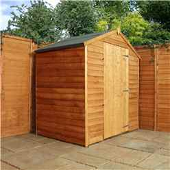 INSTALLED 3ft x 6ft Windowless Super Saver Overlap Apex Shed With Single Door (10mm Solid OSB Floor) - INCLUDES INSTALLATION