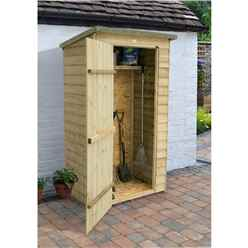 4ft x 2ft Pressure Treated Overlap Pent Wall Store (112cm x 67cm)