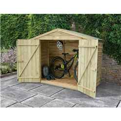 7ft x 3ft Pressure Treated Overlap Bike Shed (213cm x 85cm)