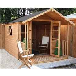 INSTALLED 12ft x 8ft Wessex Summerhouse (12mm T&G Floor & Roof) - INCLUDES INSTALLATION