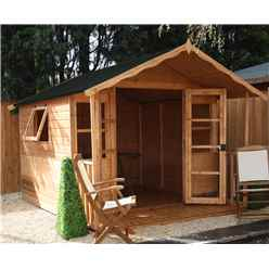 INSTALLED 10ft x 8ft Wessex Summerhouse (12mm T&G Floor & Roof) - INCLUDES INSTALLATION