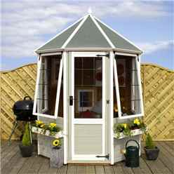 INSTALLED 6ft x 6ft Buttermere Octagonal Summerhouse (12mm T&G Floor) - INCLUDES INSTALLATION