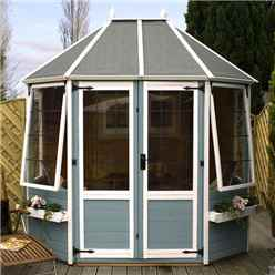 INSTALLED 8ft x 6ft Avon Octagonal Summerhouse (12mm T&G Floor) - INCLUDES INSTALLATION