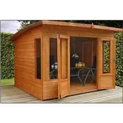 INSTALLED 8ft x 8ft Helios Summerhouse (12mm Tongue and Groove Floor and Roof) - INCLUDES INSTALLATION