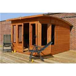 INSTALLED 10ft x 10ft Helios Summerhouse (12mm Tongue and Groove Floor and Roof) - INCLUDES INSTALLATION