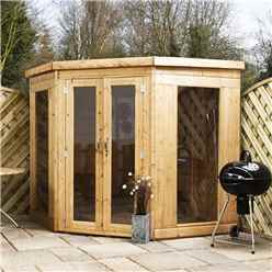 INSTALLED 7ft x 7ft Premier Solis Corner Summerhouse (12mm T&G Floor & Roof) - INCLUDES INSTALLATION