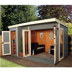 INSTALLED 12ft x 8ft (3.56m x 2.50m) Contempory Gardenroom Large Combi (12mm T&G Floor & Roof) - INCLUDES INSTALLATION