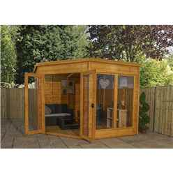 INSTALLED 9ft x 9ft Solis Premier Corner Summerhouse (Tongue and Groove Roof and Floor) - INCLUDES INSTALLATION