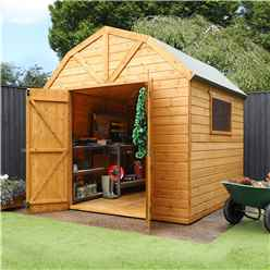 INSTALLED 8ft x 8ft Deluxe Tongue & Groove Dutch Barn With Double Doors + 1 Window (12mm T&G Floor & Roof) - INCLUDES INSTALLATION