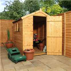 INSTALLED 7ft x 5ft Tongue & Groove Apex Shed with Single Door + 2 Windows (10mm Solid OSB Floor) - INCLUDES INSTALLATION