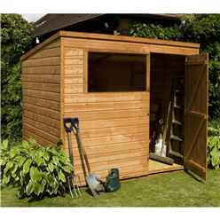 INSTALLED 8ft x 6ft Tongue & Groove Pent Shed With Single Door + 1 Window (Solid 10mm OSB Floor) - INCLUDES INSTALLATION