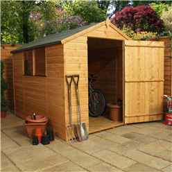 INSTALLED 8ft x 6ft Tongue & Groove Apex Shed With Large Door + 2 Windows (solid 10mm OSB Floor) - INCLUDES INSTALLATION