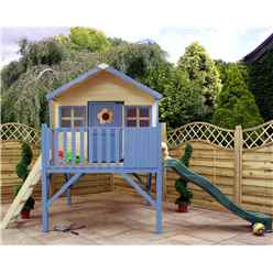 INSTALLED Honey Suckle Playhouse 6ft x 6ft With Tower and Slide - INCLUDES INSTALLATION