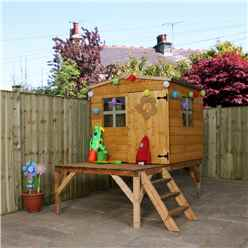 INSTALLED 6ft x 5ft Tongue & Groove Playhouse Tower + 2 Windows - INCLUDES INSTALLATION