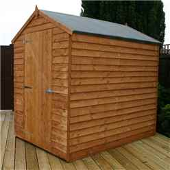 INSTALLED 7ft x 5ft Windowless Overlap Apex Shed With Single Door (10mm Solid OSB Floor and Roof) - INCLUDES INSTALLATIONft