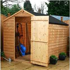 INSTALLED OXFORD: 8ft x 6ft (2.40m x 1.83m) Buckingham Overlap Apex Windowless Shed With Single Door (solid 10mm OSB Floor) INCLUDES INSTALLATION